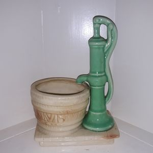 Other - Vintage Antique Waterpump Planter Pot